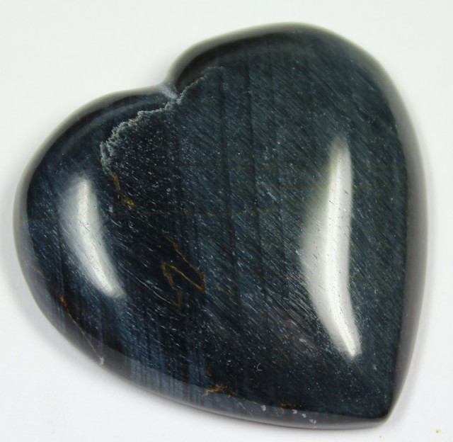 78.3 CTS TIGER EYE STONE DYED TO LOOK LIKE OBSIDIAN