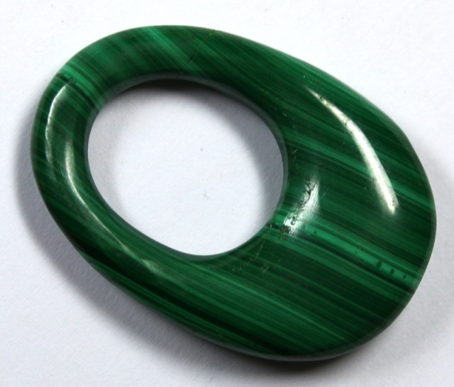 49.15 CTS  MALACHITE CARVING TOP POLISH