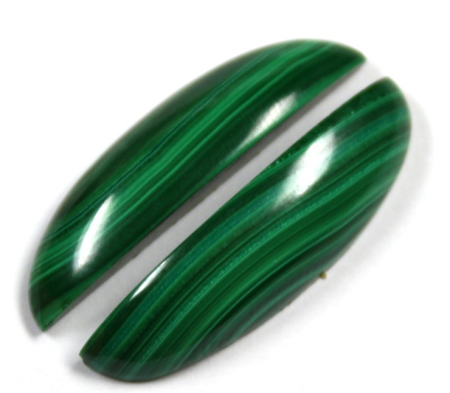 28.0 CTS CABOCHON HIGH DOME MALACHITE PAIRS