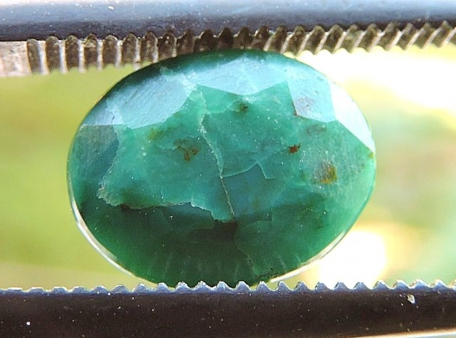 1.80ct CHRYSOCOLLA OVAL FACETED SPECIMEN GEMSTONE FROM MADAGASCAR