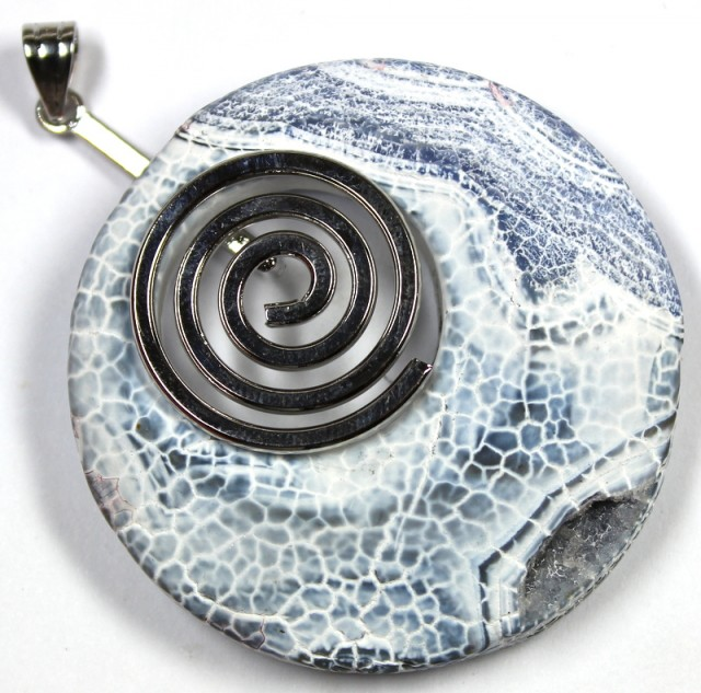 127.90 CTS AZID WASHED POLISHED AGATE PENDANT PIECE