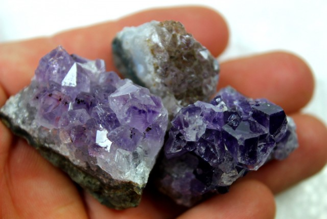 367.50 CTS 3 PIECES AMETHYST GEMSTONE DISPLAY SPECIMEN