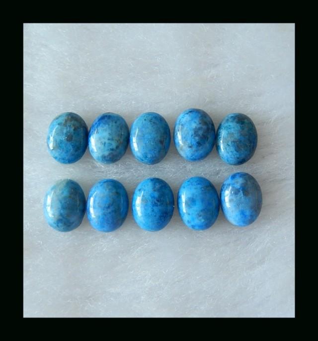 Lapis Parcel -  Natural Lapis Lazuli Oval Cabochon Pairs  - 8x7x3 MM