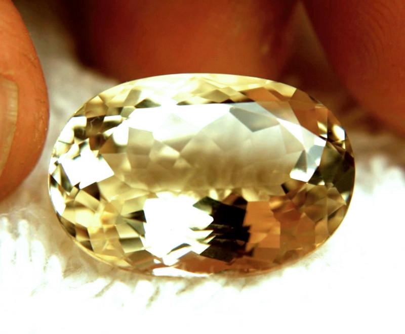 14.52 Carat VVS1 Golden Yellow Brazilian Beryl - Superb