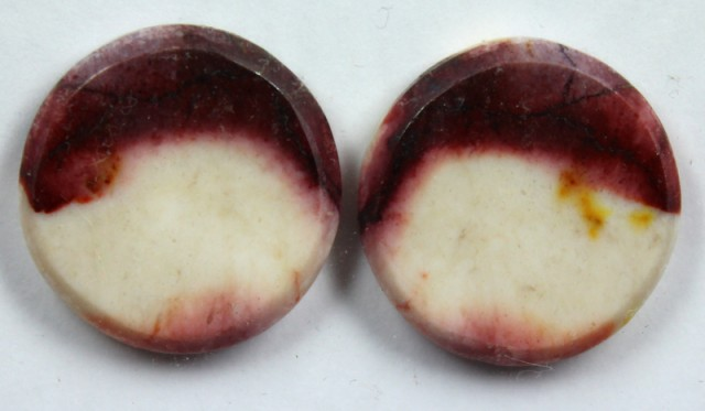 19.65 CTS JASPER PAIR POLISHED STONE GREAT RANGE IN STORE