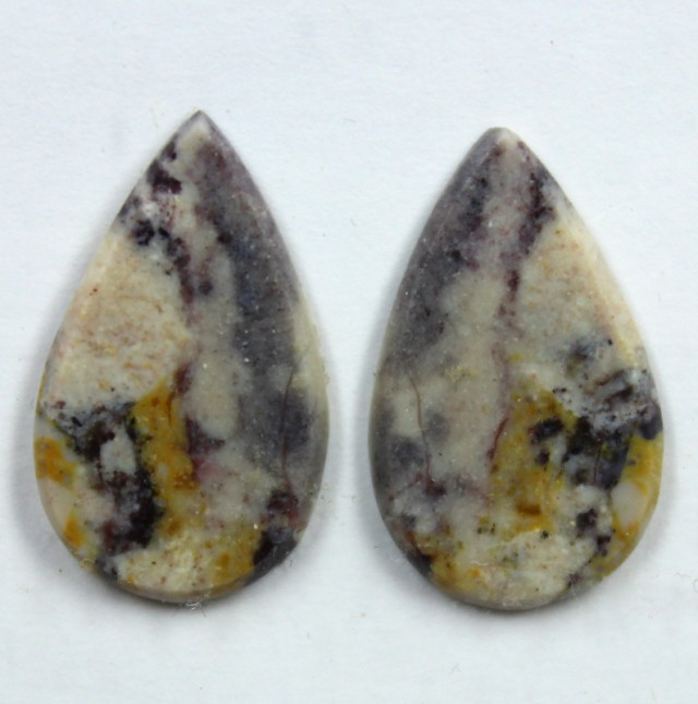 7.10 CTS JASPER PAIR POLISHED STONE GREAT RANGE IN STORE