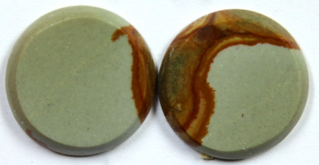 10.60 CTS JASPER PAIR POLISHED STONE GREAT RANGE IN STORE