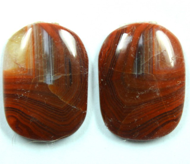 13.70 CTS JASPER PAIR POLISHED STONE GREAT RANGE IN STORE