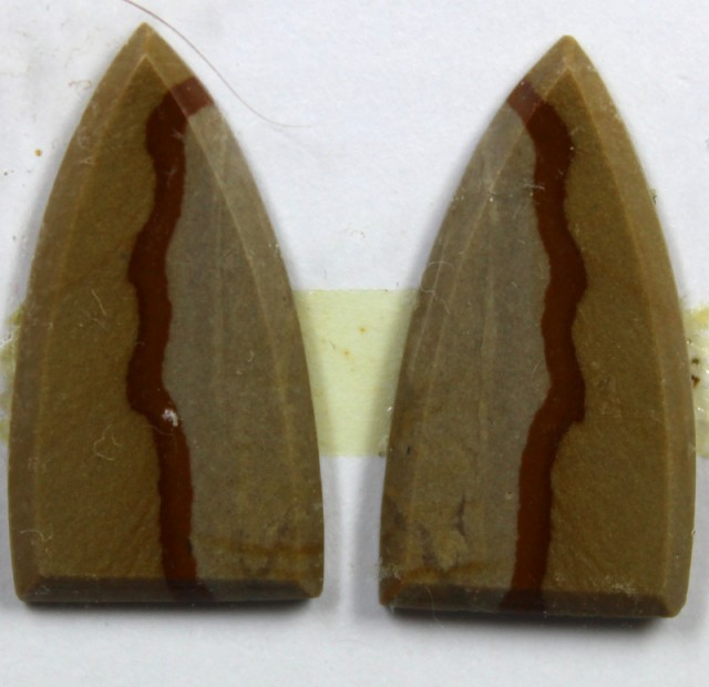 12.95 CTS JASPER PAIR POLISHED STONE GREAT RANGE IN STORE