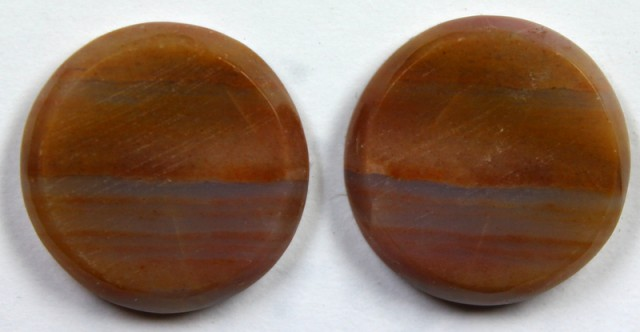18.7 CTS JASPER PAIR POLISHED STONE GREAT RANGE IN STORE