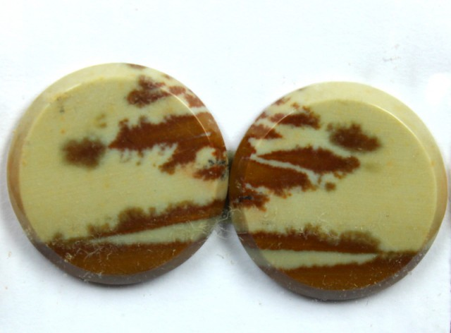 15.85 CTS JASPER PAIR POLISHED STONE GREAT RANGE IN STORE