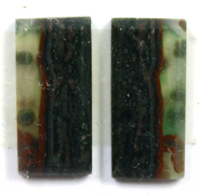 7.5 CTS JASPER PAIR POLISHED STONE GREAT RANGE IN STORE