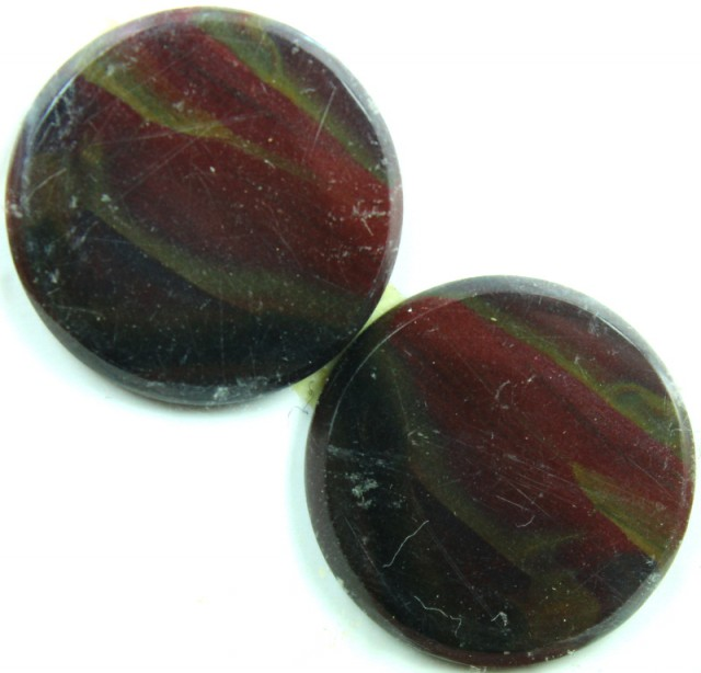 29.1 CTS JASPER PAIR POLISHED STONE GREAT RANGE IN STORE