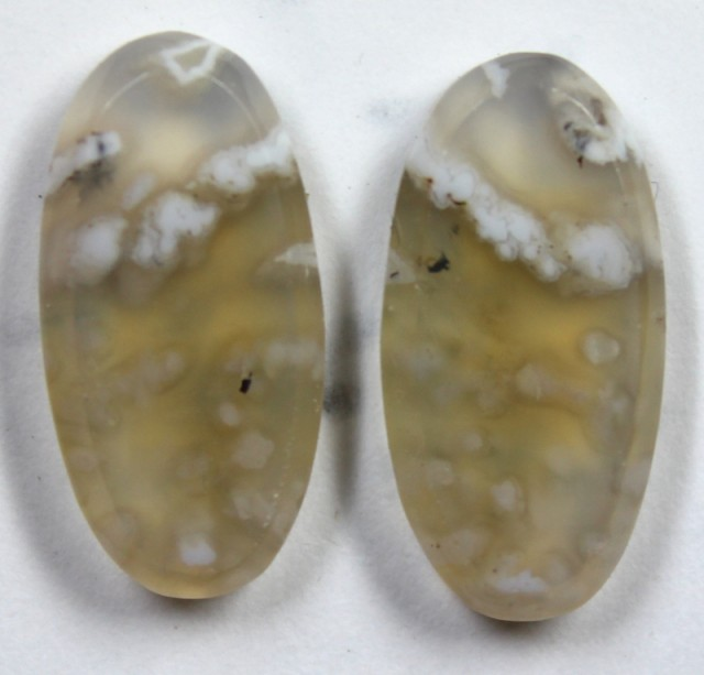 15.6 CTS JASPER PAIR POLISHED STONE GREAT RANGE IN STORE