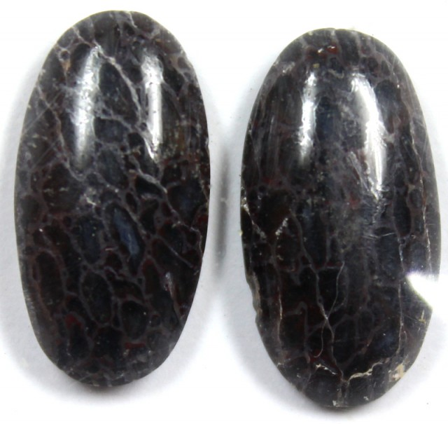 14.7 CTS JASPER PAIR POLISHED STONE GREAT RANGE IN STORE
