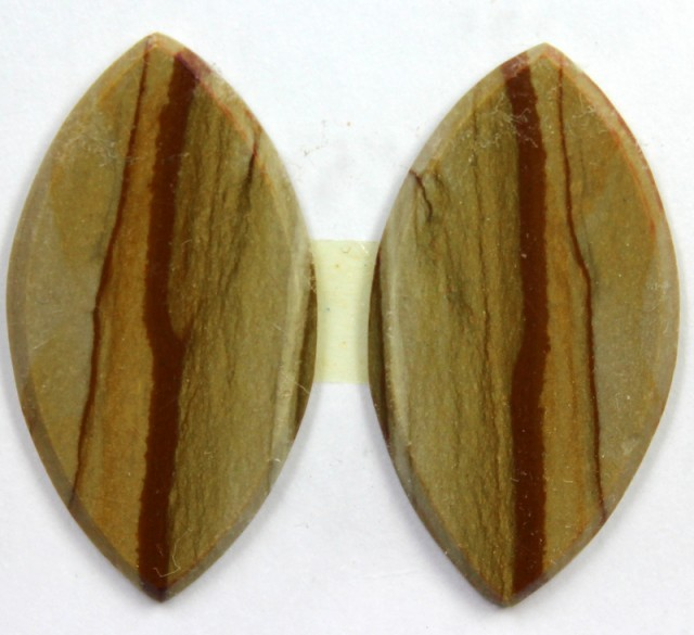 10.70 CTS JASPER PAIR POLISHED STONE GREAT RANGE IN STORE
