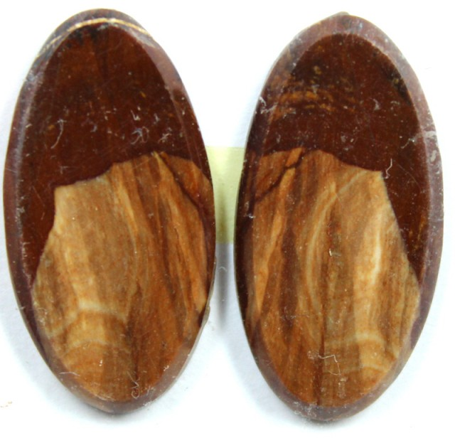 15.3 CTS JASPER PAIR POLISHED STONE GREAT RANGE IN STORE