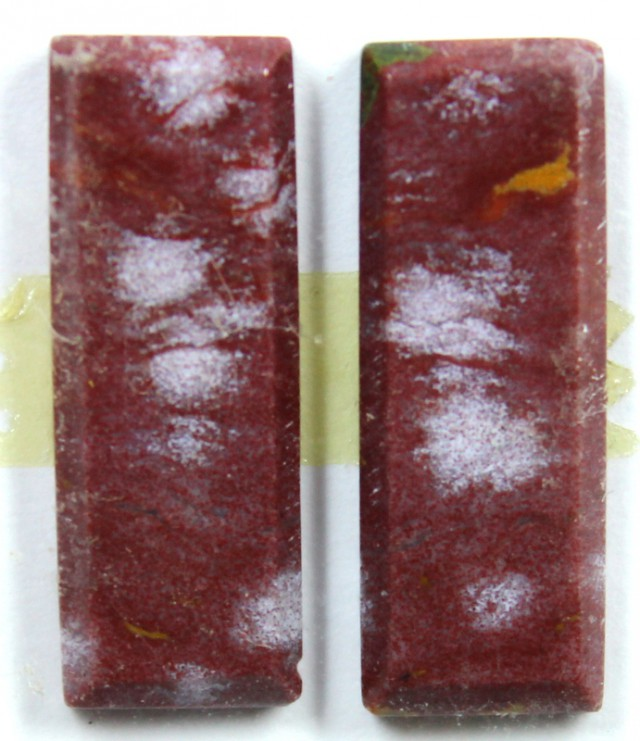 11.8 CTS JASPER PAIR POLISHED STONE GREAT RANGE IN STORE