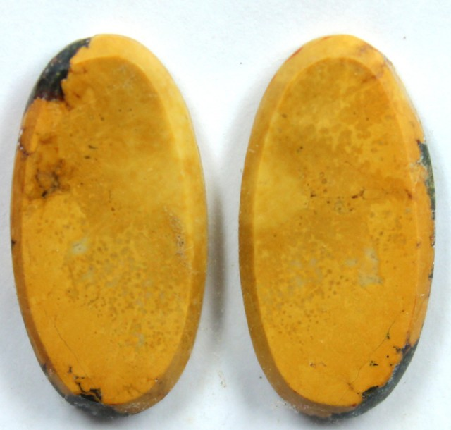 23.4 CTS JASPER PAIR POLISHED STONE GREAT RANGE IN STORE