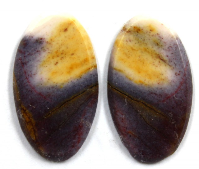 5.9 CTS JASPER PAIR POLISHED STONE GREAT RANGE IN STORE