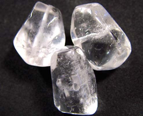 QUARTZ BEADS DRILLED (3PC) 80CTS NP-981