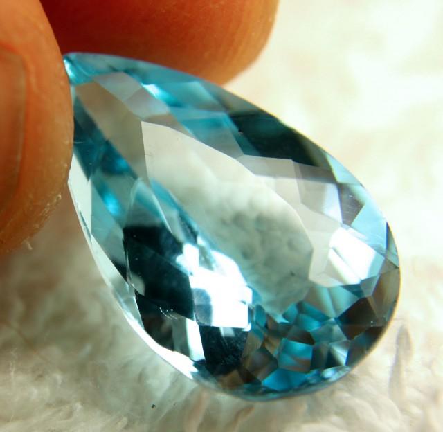 17.97 Carat VVS Blue Brazilian Topaz - Superb