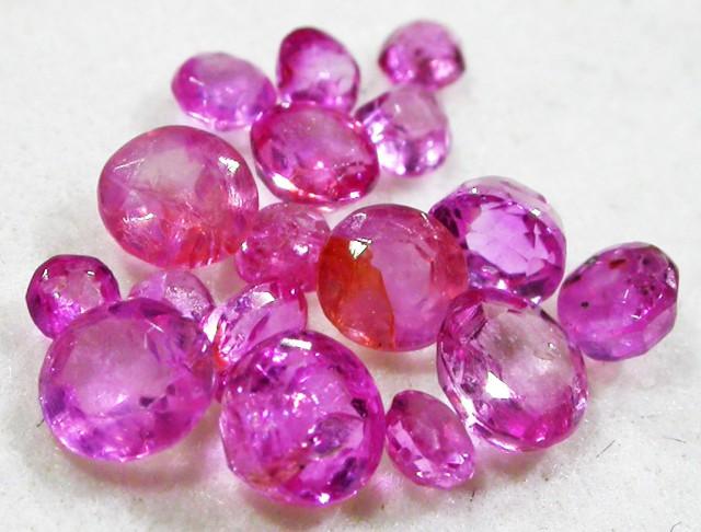 1.5 CTS AUSTRALIAN PINK SAPPHIRE PARCEL [ST9068]5