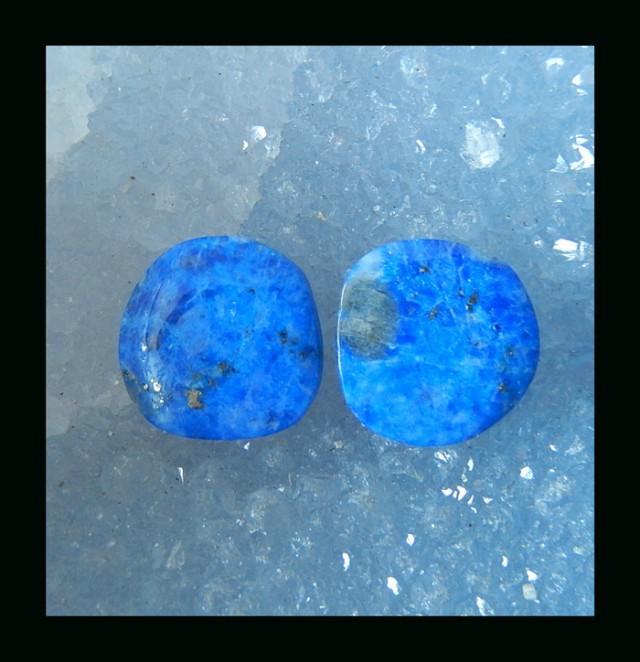 Lapis Lazuli Cabochon Pair  - 13x3 MM  (C0006)
