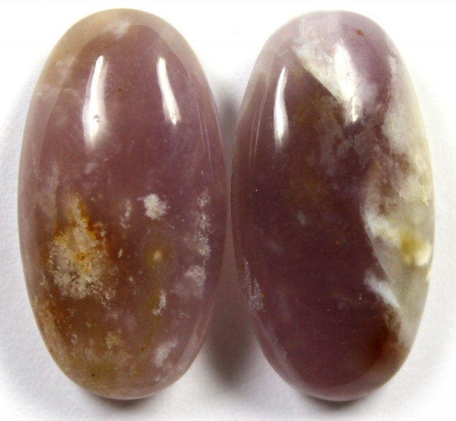 36.90 CTS AMETHYST PAIR POLISHED STONES