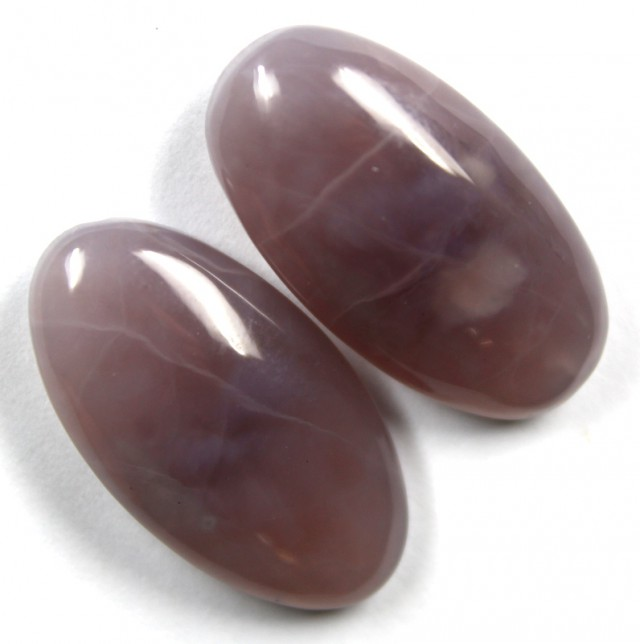 33.80 CTS AMETHYST PAIR POLISHED STONES
