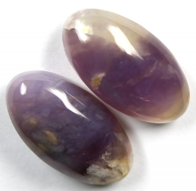 42.10 CTS AMETHYST PAIR POLISHED STONES
