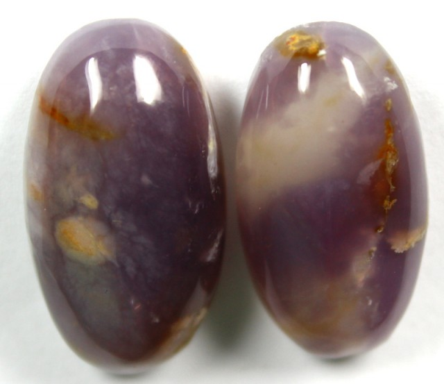 43.50 CTS AMETHYST PAIR POLISHED STONES
