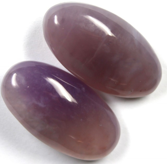 37.10 CTS AMETHYST PAIR POLISHED STONES