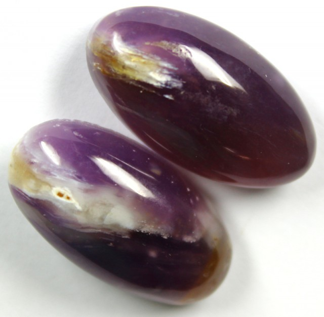 46.55 CTS AMETHYST PAIR POLISHED STONES