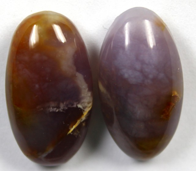 42.40 CTS AMETHYST PAIR POLISHED STONES