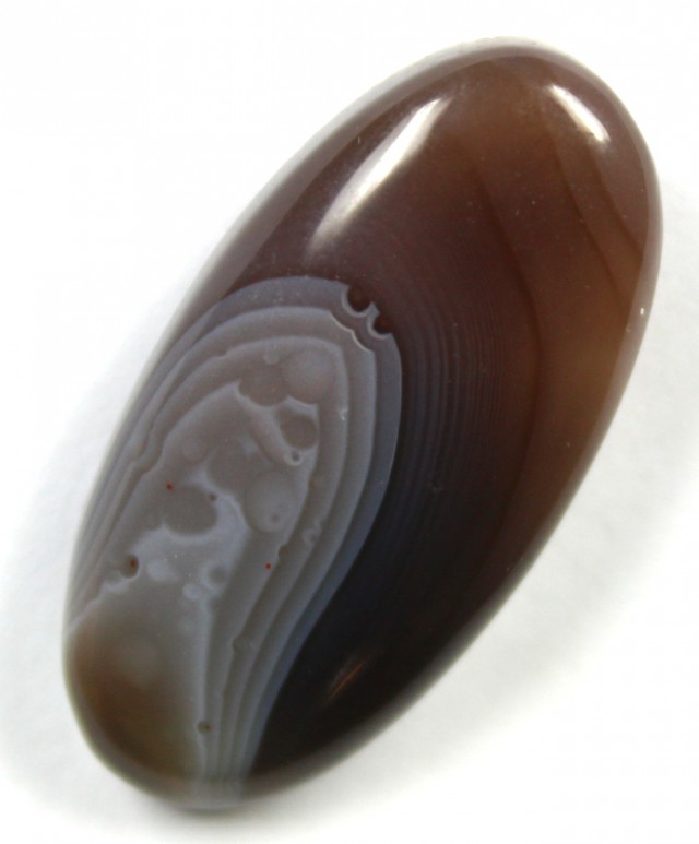 23.0 CTS BANDED AGATE POLISHED STONE