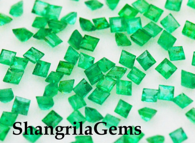 2mm 10 Emerald Square cut gemstones 0.50ct 10 gems