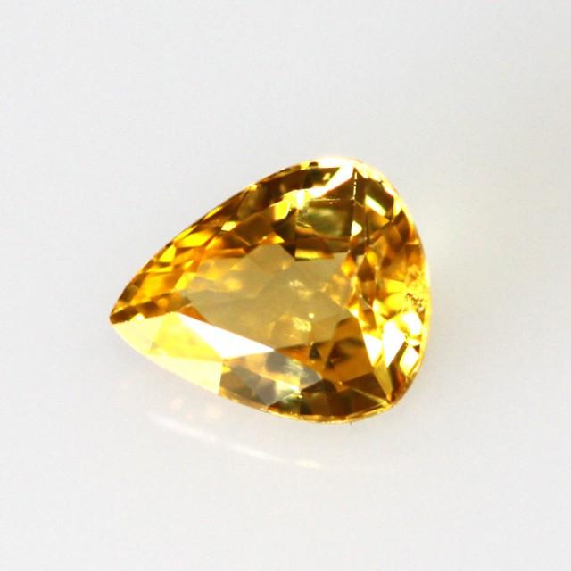 0.54cts Natural Australian Golden Sapphire Pear Cut