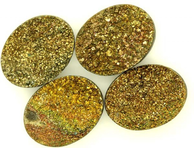 NATURAL DRUSY STONE (4PC SET) 30 CTS  PG-1101