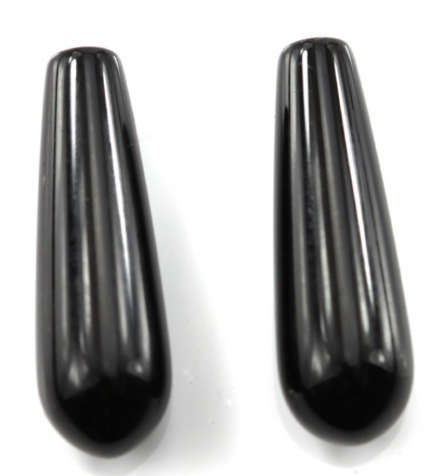 21.92cts Matching Onyx Boule Drop Shape