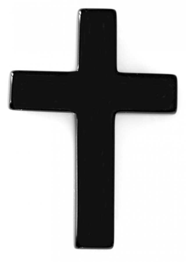 35.71cts Onyx Cross with Drill Hole