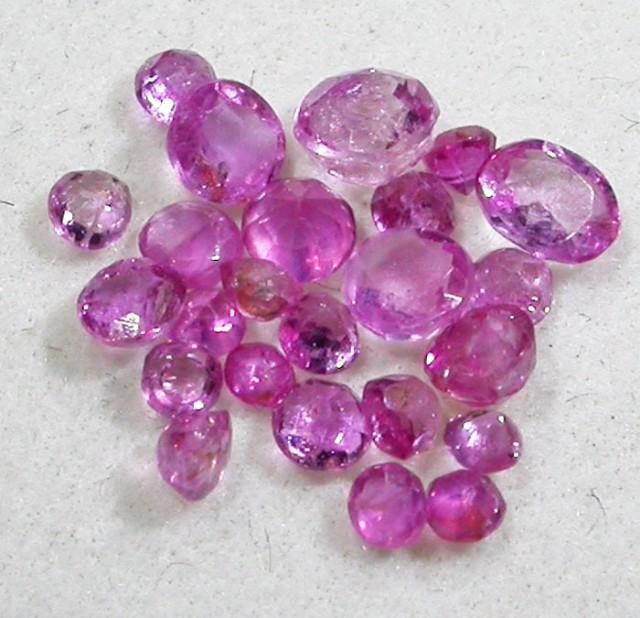 1.5 CTS AUSTRALIAN PINK SAPPHIRE PARCEL [ST9286]
