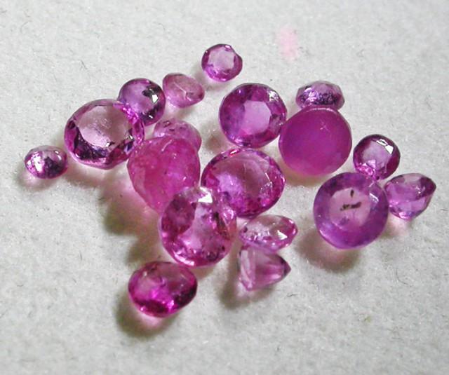 1.5 CTS AUSTRALIAN PINK SAPPHIRE PARCEL [ST9324]