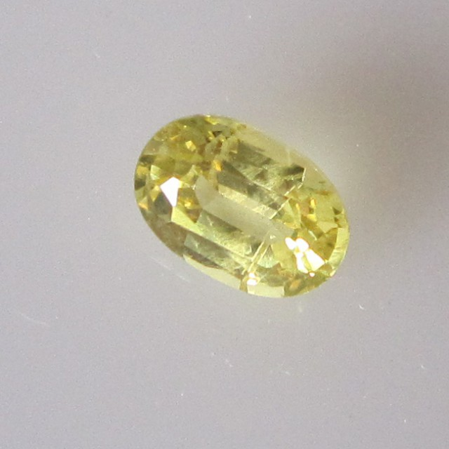 0.67cts Natural Australian Yellow Sapphire Oval Cut
