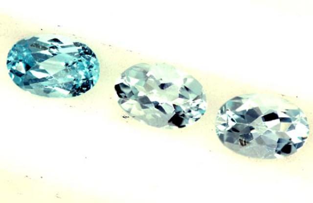 BLUE TOPAZ NATURAL FACETED (3 PCS) 1.45 CTS  PG-1339