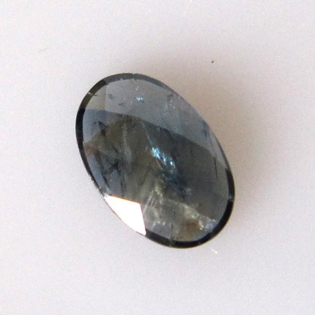 0.97cts Natural Australian Sapphire Oval Checker Board Cut