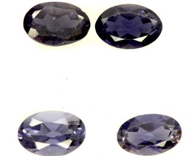 IOLITE FACETED STONE (4 PCS) 2 CTS  PG-1372