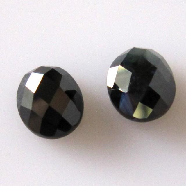 4.17cts  Matching Pair Natural Sapphires Oval Checker Board 2pcs Beautiful