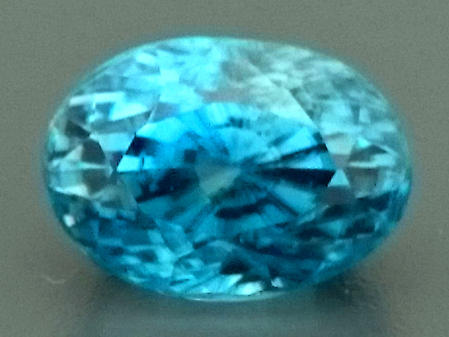 4.40ct Natural Blue ZIRCON Gemstone
