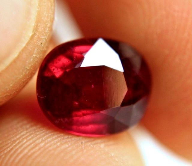 3.62 Carat Fiery Pigeon Blood Ruby - Superb